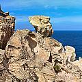 cliff in San Pietro island by Antonio Scarpi