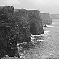 Cliff Of Moher Ireland Bw by Joseph Semary