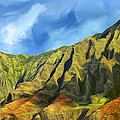 Cliffs On The Na Pali Coast by Dominic Piperata