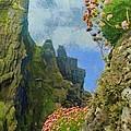 Cliffside Sea Thrift by Jeff Kolker