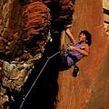 Climber, Red Rocks, Nv by Beth Wald