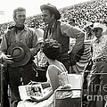Clint Eastwood  Eric Fleming Characters Rowdy Yates Salinas California 1962 by California Views Archives Mr Pat Hathaway Archives