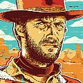 Clint Eastwood Pop Art by Jim Zahniser