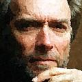 Clint Eastwood Portrait by Samuel Majcen