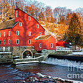 Clinton Mill In Winter by Jerry Fornarotto