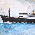 Clipper Epic Longline Fishing Boat Nautical Chart Map Art by Cathy Peek