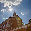 Clock At Independence Hall by Kay Pickens
