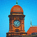 Clock Tower At Main Street Station by Ola Allen