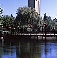 Clock Tower At Riverfront Park by Panoramic Images