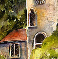 Clock Tower England by Marti Green