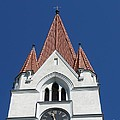 Clock Tower. Evangelic Lutheran Church. Silute. Lithuania. by Ausra Huntington nee Paulauskaite