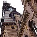 Clock Tower In New Haven Connecticut by Kim Chernecky