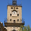 Clocktower - Aix En Provence by Christiane Schulze Art And Photography