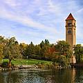 Clocktower And Autumn Colors by Paul DeRocker