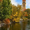 Clocktower In Fall by Paul DeRocker