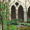 Cloister Courtyard by Bonnie Peacher