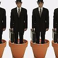 Clones Of Man In Business Suit Standing by Darren Greenwood