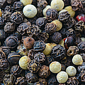 Close Up Background Of Multi Color Peppercorn by Brandon Bourdages