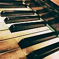 Close Up Of An Old Piano by Jaroslaw Blaminsky