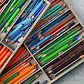 Close-up Of Color Pencils, Ishoj by Panoramic Images