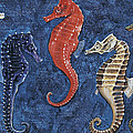 Close-up Of Five Seahorses Side By Side  by English School