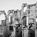 Close Up Of Remains Of Upper Deck In The Old Roman Collosseum At El Jem Tunisia by Joe Fox
