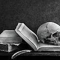 Close-up Of Skull On Book by Jakkapan Jabjainai / Eyeem