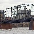 Close Up Of The Walnut Street Bridge by Rob Luzier