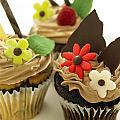 Close-up Of Three Chocolate Cupcakes by Works Photography