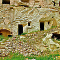 Close-up Of Tufa-carved Homes In Cappadocia-turkey by Ruth Hager