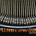 Close Up Of Vintage Typewriter Keys. by Paul Ward