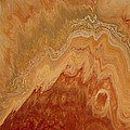 Close-up One Of Agate Seven From The Poured Agate Painting Collection by Kirsten Gilmore
