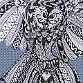 Close Up Owl Bubble by Karen Larter