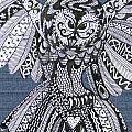 Close Up Owl Denim by Karen Larter