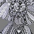 Close Up Owl Grey by Karen Larter