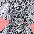 Close Up Owl Pink by Karen Larter