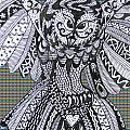 Close Up Owl Tartan by Karen Larter