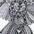 Close Up Owl White by Karen Larter