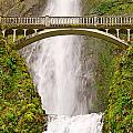 Close Up View Of Multnomah Falls In The Columbia River Gorge Of Oregon by Jamie Pham