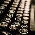 Close Up Vintage Typewriter by Edward Fielding