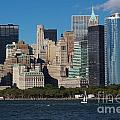 Close View Of Downtown Manhattan Eastern Skyline by Jannis Werner