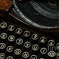 Closeup Of Antique Typewriter by Amy Cicconi