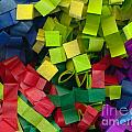 Colorful Cut Tissue Paper by Kerstin Ivarsson