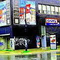 Closing Time Montreal Factory Glatts Produits Quebec Meats Graffiti Art City Scenes Carole Spandau by Carole Spandau