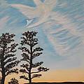 Cloud Angel In Acryics by Wayne Williams