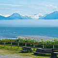 Cloud Bank At Low Tide In Homer-ak by Ruth Hager