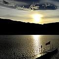 Cloud Chasing - Skaha Lake 4-2-2014  by Guy Hoffman