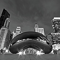 Cloud Gate And Skyline by Adam Romanowicz