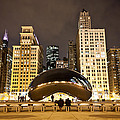 Cloud Gate And Skyscrapers by Anthony Doudt