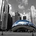 Cloud Gate B-w Chicago by David Bearden